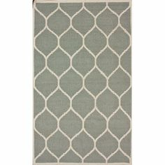 nuLOOM VCDH05C-508 Moscow Collection 100-Percent Wool Area Rug, 5-Feet by 8-Feet, Trellis, Light Grey Style: Contemporary. Color: Light Grey. Actual Size: 5' x 8'. Material: 100% Wool. Origin: India.  #nuLOOM #Home