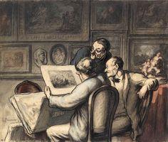 Honoré Daumier , Die Grafikliebhaber, 1863–1865 © Musee d'Orsay, Paris, Dist. RMN-Grand Palais, Tony Querrec