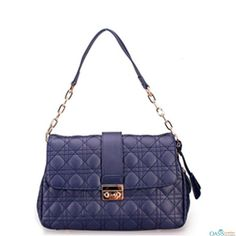 Look perfect with Royal Blue Quilted Handbag.