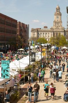Iowa's Farmers Markets! (Pictured: Downtown Des Moines Farmers Market).