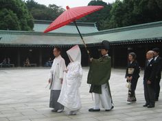 A traditional Japanese wedding I came across at Meijijingu Tokyo