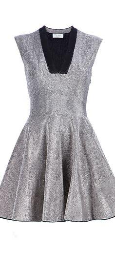SAINT LAURENT ● flared dress