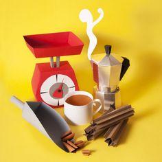Coffee time by the paper artist Maria Laura Benavente Sovieri