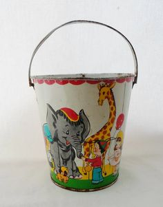 J. Chein & Co. Child's Sand Pail Bucket USA by alsredesignvintage