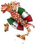 Map of Italy, Italian style