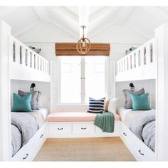 Bunk room reveal! Head over to the blog to see this rad kids room and the guest bedroom from #projectbayshores //link in profile build by @graystonecustombuilders by @tessaneustadt