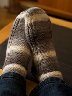 Yarn Harlot's beautiful yet simple socks