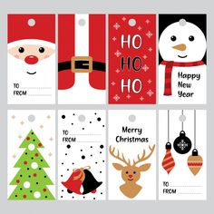 - Christmas Gift Tags 14 Single page with 8 Gift Tags for you to print and use. All designs are created on sheets. Cute Christmas Cookies, Christmas Gift Decorations, Christmas Crafts For Gifts, Christmas Gift Box, Christmas Cards, Christmas Gift Tags Printable, Holiday Gift Tags, Christmas Printables, Diy Gifts To Sell