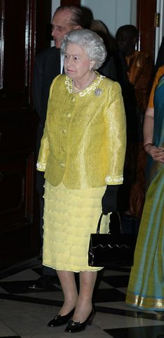 Queen Elizabeth II and the Prince Philip, Duke of Edinburgh host the annual Commonwealth Day Reception at Marlborough House on March 12, 2012 in London, England.