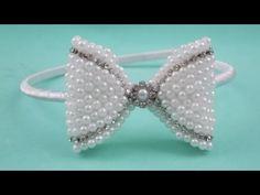 Laço duro com tecido e fita de cetim \ Hard knot of fabric and satin ribbon - YouTube