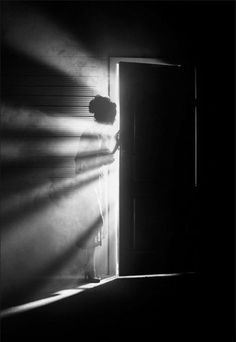 When the door opens - BLAST light through it. Just WAY too much light. Especially the first time.