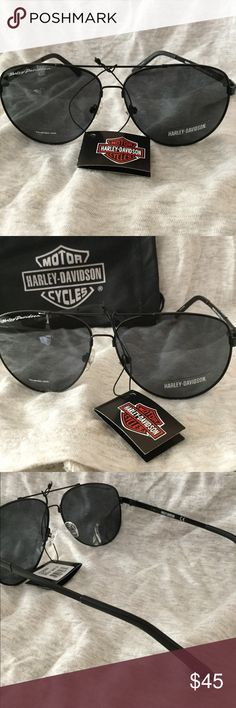 HARLEY DAVIDSON SUNGLASSES NWT HARLEY DAVIDSON SUNGLASSES NWT  WOMENS BLACK METAL FRAME  INCLUDES HARLEY DAVIDSON CLOTH CASE Harley-Davidson Accessories Sunglasses