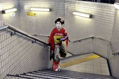 Bid now on Geisha in Subway, Kyoto, Japan by Steve McCurry. View a wide Variety of artworks by Steve McCurry, now available for sale on artnet Auctions. Color Photography, Street Photography, Portrait Photography, Digital Photography, Photography Composition, People Photography, Photography Ideas, Steve Mccurry Photos, Vivre A New York