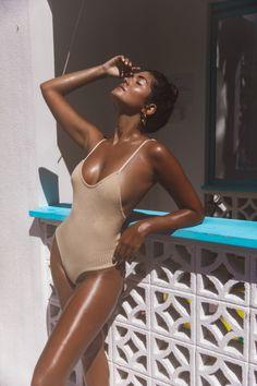 - Scoop back design - Streamline fit - Adjustable straps - Soft luxe yarn Dress Outfits, Fashion Outfits, Dresses, Summer Skin, Beachwear, Knitwear, Bodysuit, One Piece, Nude