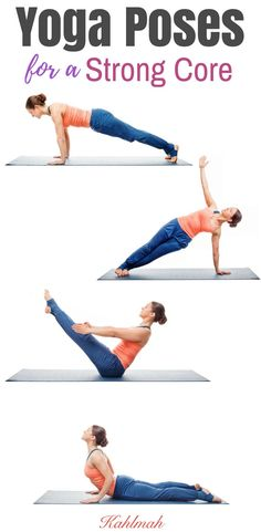 Yoga poses for a strong core. Abs yoga workout.