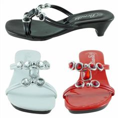 13.00$  Watch here - http://viful.justgood.pw/vig/item.php?t=n00gljx34281 - New Womens Sandals Jeweled Low Heels Flip Flops Slides Black,Red,White