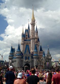 Cinderella's famous enough castle at Disney World.