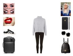 """""""Lou - Plane to LA"""" by annie-stylesx ❤ liked on Polyvore featuring Michael Kors, River Island, Topshop, adidas, MICHAEL Michael Kors and B. Brilliant"""