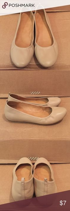 """Forever 21 Flats Forever 21 Flats EUC                                              Color: Nude                                                             Size: 10                                                                                                                              Heel Height: .25""""                                                        Composition: Polyurethane; Sole-Manmade                   *No shoe box included. Slight wear on sole Forever 21 Shoes Flats & Loafers"""