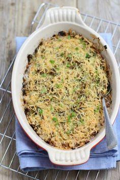 preischotel met gehakt, vervang de aardappel door bataat, et voila .