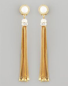 Rachel Zoe Tassel Post Earrings, White - Neiman Marcus