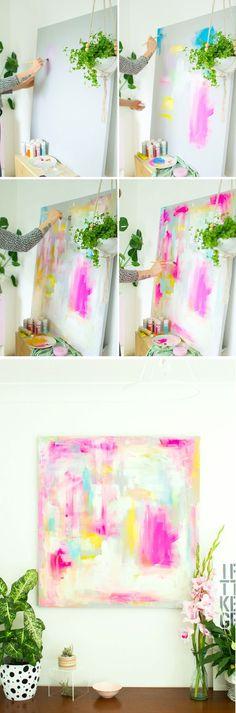 DIY Abstract Artwork - Furniture Hacks Tutorial   Fall For DIY