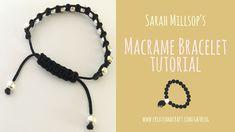 DIY Macrame Bracelet: Sarah Millsop's Quick and Easy Tutorial - jewelry diy bracelets Friendship Bracelets Tutorial, Diy Friendship Bracelets Patterns, Diy Bracelets Easy, Bracelet Crafts, Personalised Friendship Bracelets, Macrame Bracelet Tutorial, Macrame Bracelets, Loom Bracelets, Bracelet Knots
