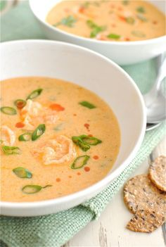 cajun shrimp bisque. I am gonna make this tonight! My Dad and I are cooking dinner together and I think this would be awesome!!!
