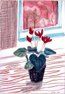 "David Hockney ""Cyclamen, Mayflower Hotel, New York"" 2002"