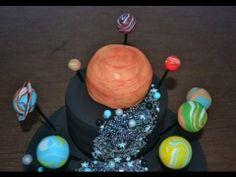 How to make solar system cake