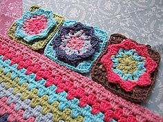 Star Flower granny square tutorial in Dutch and English by Saskia Morrewen