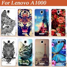 Colorful Printed Hot Selling cover For Lenovo A1000 A 1000 case cover  DIY Design Beautiful Flowers phone case Free Shipping