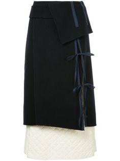 Irene tied quilted skirt