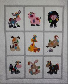Hi lovely readers. I know you love looking at these quilts – when my mum had. - Hi lovely readers. I know you love looking at these quilts – when my mum had the chance to quil - Quilt Baby, Cot Quilt, Farm Animal Quilt, Farm Quilt, Patchwork Baby, Patchwork Quilting, Quilting Projects, Quilting Designs, Quilting Ideas
