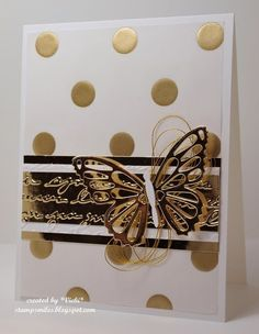 Metallic Butterfly by basement stamper - Cards and Paper Crafts at Splitcoaststampers