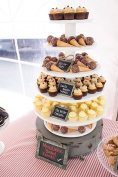 Dessert Bar from our Grand Opening Party... Delicious treats from Moustache Baked Goods and photos by Mallory Miya Photography