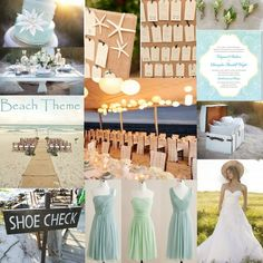mint wedding beach theme!