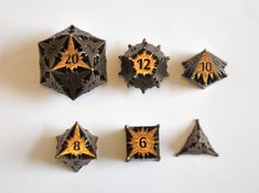 Starlight Dice Set - Balanced by majestictrinkets on Shapeways. Learn more before you buy, or discover other cool products in Dice. Dungeons And Dragons Dice, Dungeons And Dragons Homebrew, Nerd Merch, Dragon Dies, Tabletop Games, Pen And Paper, Goblin, Pink And Green, Decir No