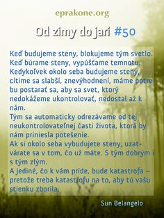 Od zimy do jari: deň 50 Development Quotes, Self Development, Motto, Blog, Blogging, Mottos