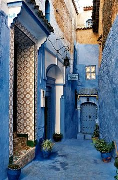 I'm assuming this is Chefchaouen, Morocco.