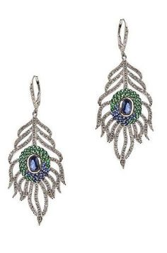 Peacock Feather Earrings <3