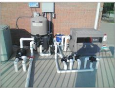 This is a great example of plumbing for an inground swimming pool. The plumbing was done in such a way that almost any of the pool water returns can be isolated.   If a heater, cleaner motor and/or automatic santizer are not used or installed your plumbing configuration will vary to the extent they are removed from the system.   Basically, the line leaving the multiport (return or pool port) would then connect directly to the return plumbing going back to the pool.