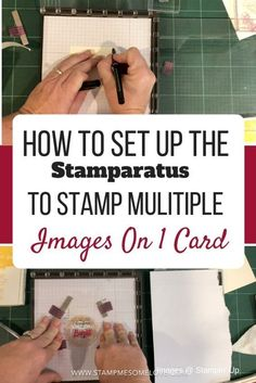 How to Set Up Stamparatus to Stamp Multiple Images. Make cards more efficient. Card Making Tips, Card Making Tutorials, Card Making Techniques, Making Ideas, Making Cards, Video Tutorials, Stamping Tools, Stamping Up Cards, Rubber Stamping Techniques