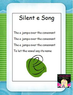 Silent e and Scavenger Hunts:  silent e poster freebie