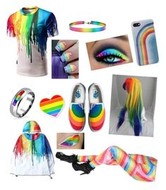 """""""Rainbow Dreamer"""" by bon6-the6-cat6 on Polyvore featuring Marc Jacobs, Bling Jewelry, Vans and Forever 21"""