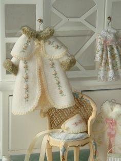 Dollhouse felt embroidered girls coat.