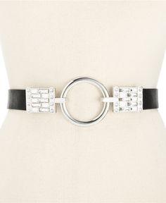 INC International Concepts Stone Ring Interlock Belt, Only at Macy's - Handbags & Accessories - Macy's