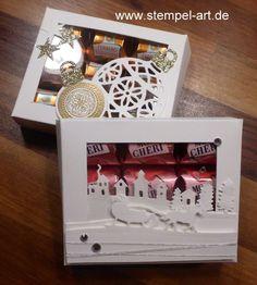 Stampin up Mon Cheri Verpackung nach StempelART, Flockenzauber, Schlittenfahrt…