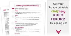 How to Read Food Labels: Get the Truth + Printable Cheat Sheet