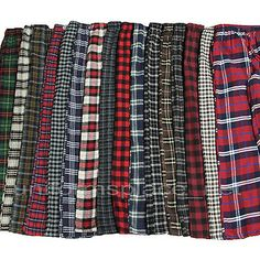 Men Flannel Pajamas Pants Loungewear Pants 100 Cotton Plaid PJ Sleepwear s Flannel Pajama Pants, Pj Pants, Plaid Flannel, Pajama Pattern, Mens Sleepwear, Cute Outfits For School, Lounge Wear, Casual Outfits, Menswear